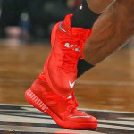 King James Fouls out in Nickname Game. Wears Soldier 7 All Red PE.