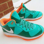 Nike LeBron 8 V/2 Low Miami Dolphins Unreleased Sample