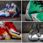 Four Different Nike LeBron XI iD Designs by @Mighty1ne