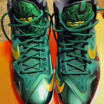 "First Look at Nike LeBron XI (11) SVSM ""Irish"" Away PE"