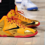 King James Wears LeBron 11 Fairfax Away PE in Los Angeles