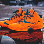 "Release Reminder: LeBron 11 Atomic Orange ""Miami vs. Akron"""