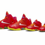 "Kids' Nike LeBron XI GS ""Laser Crimson"" Collection Available Now"