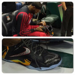 #LeBronMetEbony and Wrote Her Special Message on His LeBron 11 Elite PEs