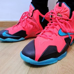 Kids' Nike LeBron XI GS Styled to Match the Men's Crimson Elite