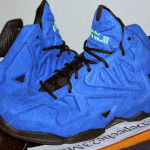 "Nike LeBron XI EXT ""Blue Suede"" Sample – Up Close & Personal"