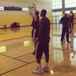 """King James Wears """"What the"""" Nike LeBron XI in Practice"""