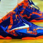 Close Up: Nike LeBron 11 Florida Gators Away PE