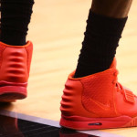 "LeBron James Practices in the ""Red October"" Nike Air Yeezy 2"