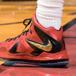 Closer Look at James' Nike LeBron X P.S. Elite Finals PE in Game 3