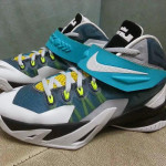 Nike LeBron Zoom Soldier 8 in White, Blue and Yellow