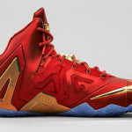 Release Reminder: Nike LeBron 11 Elite SE Red & Metallic Gold