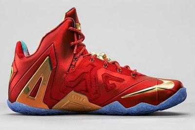 Nike LeBron 11 Elite SE Red \u0026 Metallic