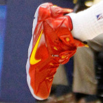 "James Wears ""Cavs"" Nike LeBron 12 PE vs. Indiana"
