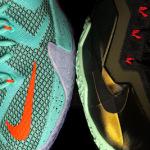 "Nike LeBron 11 ""King's Pride"" vs. Nike LeBron 12 ""NSRL"""