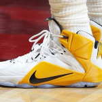 "Closer Look at the ""White & Yellow"" Nike LeBron 12 Cavs Home PE"
