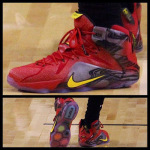 "James Rocks Nike LeBron 12 ""Portland"" PE in Another Cavs Loss"