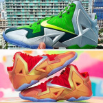 Two Super Rare LeBron 11 PEs – Gloria & Silver / Green