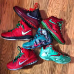 Christmas 12's On-Feet Look & LeBron 7-12 Group Photo