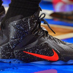LBJ Debuts Speckled Black & Red Nike LeBron 12 PE at MSG