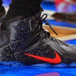 LBJ Debuts Speckled Black & Red Nike LeBron 12 PE at MSG
