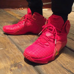 LeBron James Brings Out An All-Red Nike LeBron 12 EXT in NYC
