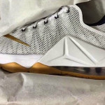 Upcoming White and Gold (Gum Outsole) Nike LeBron 12 Low