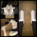 "King James Unveils ""White on White Rubber City 12s"""