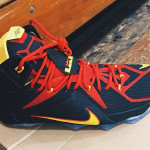 First Look at Nike LeBron XII (12) Fairfax Lions Away PE