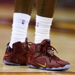 "King James Wears ""Wine&Gold"" LeBron 12 PE in Game 4 Loss"