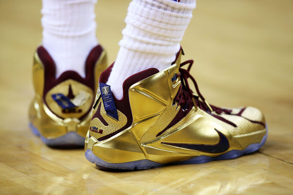 lebron 2015 shoes. lbj wears shiny nike lebron 12 \ lebron 2015 shoes