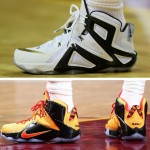 LeBron's Game 3 Shoe Close Ups – LeBron 12 Elite PE & Witness GR