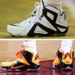 LeBron's Game 3 Shoe Close Ups – LeBron 12 Elite PE & Witness GR