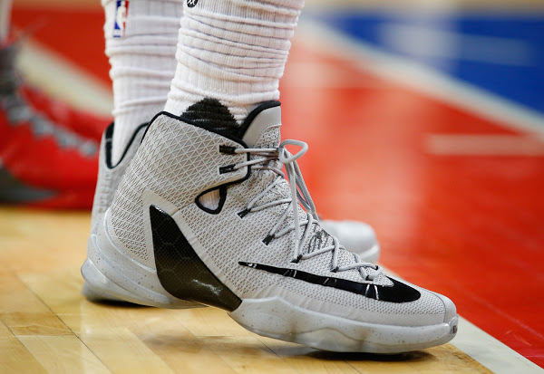 d7bf1ad00c9a3 ... get 25 04 2016 james laces up nike lebron 13 elite grey pe as cavs sweep