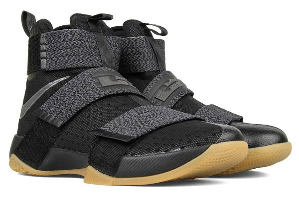pick up fde61 efb24 Available Now: Nike LeBron Soldier 10 Black / Gum | NIKE ...