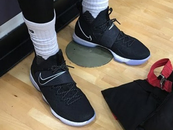on sale 0efc9 a63b1 King James Wears New Nike LeBron XIV (14) in Practice | NIKE ...