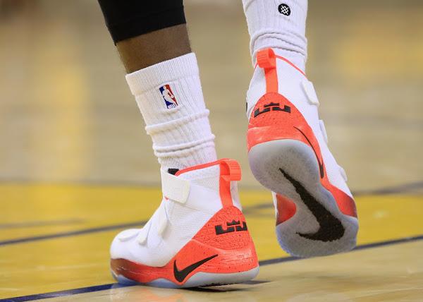 the best attitude 07f71 d6d84 ... 06-06-2017 Closer Look at LBJ s Nike LeBron Soldier 11 Hot Orange PE ...
