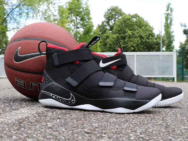 79a1a9f907ac ... 01-07-2017 Available Now  Nike LeBron Soldier 11 Black and Red ...