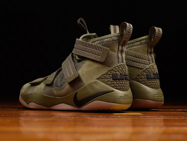 """f32ad3f147c 24-07-2017 Closer Look at Nike LeBron Soldier 11 """"Olive"""" ..."""