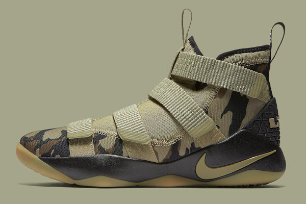 online retailer 02328 80fea Nike Adds the Mandatory Camo Look to the LeBron Soldier XI ...