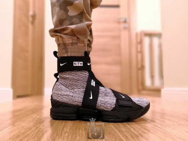 c25f6c054 Detailed Look at KITH X Nike LeBron 15 Lifestyle 'Concrete' | NIKE ...