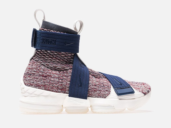 f4d2429530f KITH X Nike LeBron 15 Lifestyle  Stained Glass  w  3 Straps