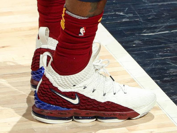 info for 5219c 3ae8c LBJ Debuts 'First Game AZG' Nike LeBron 15 in Game 3 Loss ...