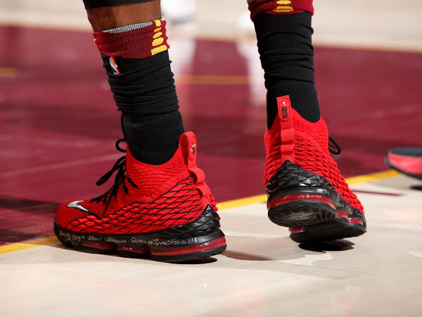 big sale 3a512 a10ff LBJ Hit Another Game Winner in Nike LeBron 15 'Griffey' Pt ...