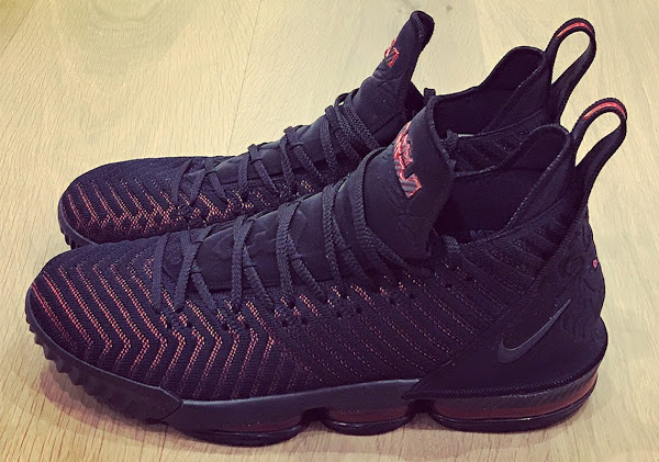 65cda833efdc ... Release Date  23-08-2018 King James Unveils the Nike LeBron 16 in Black  and Red ...